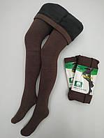 Колготы на меху 2 шва XL-2XL тёплые плотные KENALIN 285 бамбук шоколад ЛЖЗ-120495, фото 1