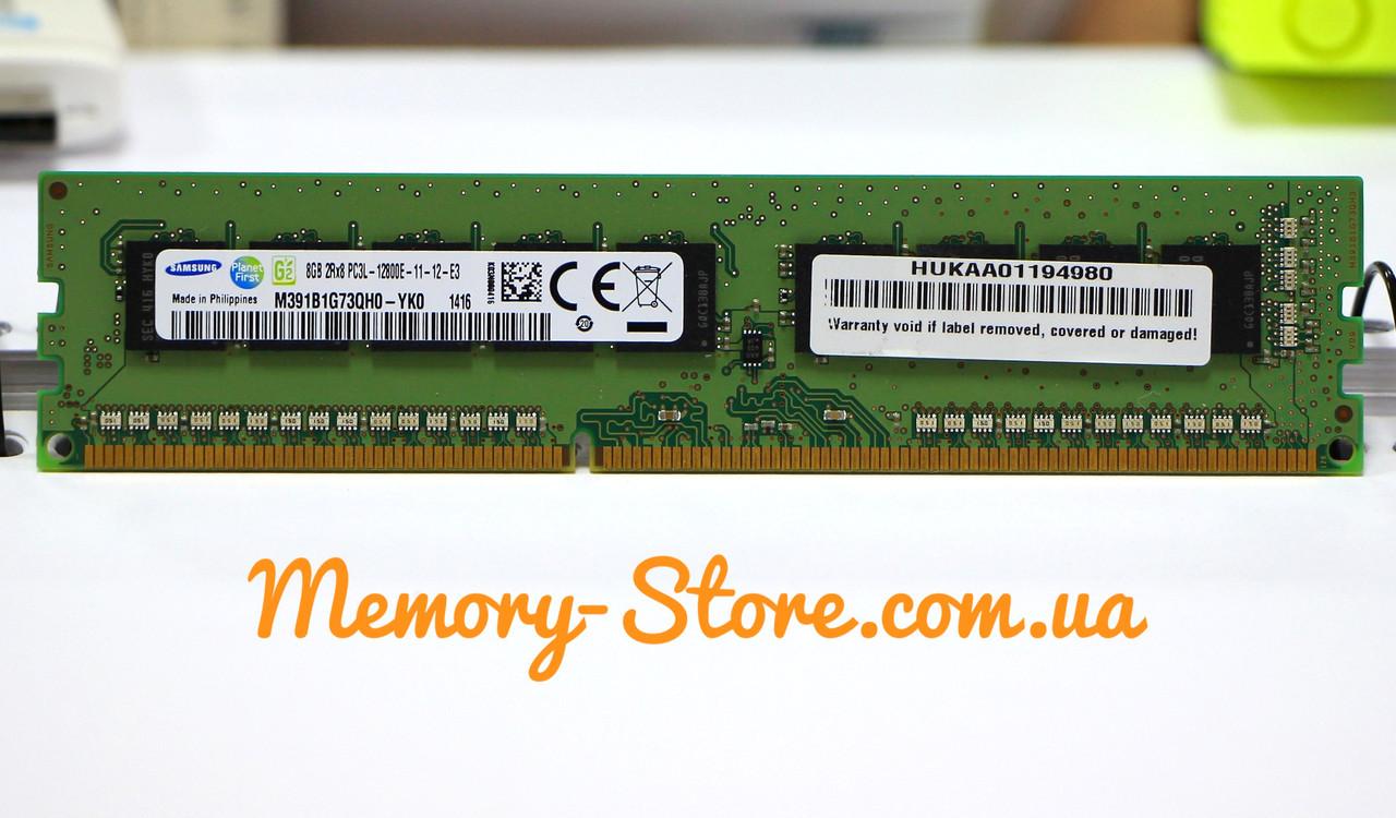 Оперативна пам'ять для ПК Samsung DDR3 8Gb PC3L-12800E 1600MHz Intel і AMD