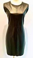 Короткое платье Fendi кожаное натуральное .