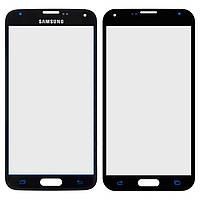 Защитное стекло корпуса для Samsung Galaxy S5 G900, синий, оригинал
