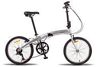 Велосипед 20'' PRIDE MINI 6sp серебристый глянцевый 2016