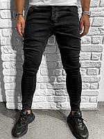 Мужские джинсы черные зауженные | Производитель Турция