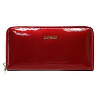 Гаманець жіночий лаковий на блискавці червоний LORENTI 77006-SH Red