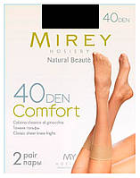 Капронові шкарпетки Mirey COMFORT 40 den nero чорні 2 пари в упаковці ПК-27137