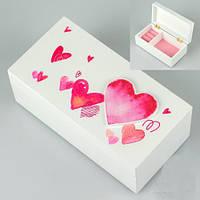 Красивая шкатулка «Сердечки» 18х9х7 см