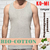 Майка мужская Ko-Mi 100% хлопок Турция серая размер 10-2ХL,20011918