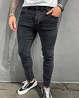 Джинсы мужские черные с серым зауженные | Производитель Турция