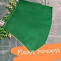 Маска захисна жіноча, багаторазова, бавовна 100%, Україна, зелена, 20030544
