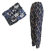 Женские лёгкие летние штаны султанки с карманами Ласточка 447. батал (разные рисунки) ЛЖЛ-3069