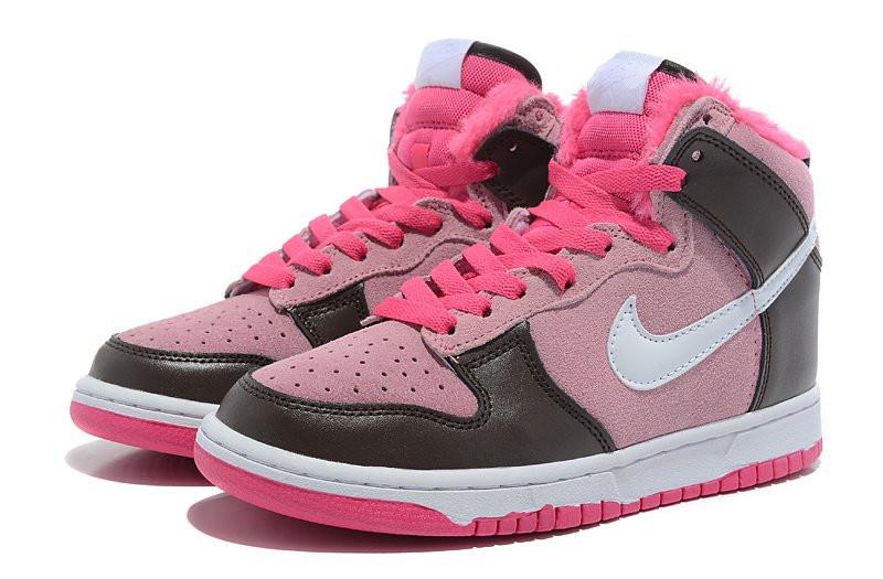 cb9cc763 Кроссовки женские Nike Dunk High (в стиле найк данк) на меху розовые, цена  1 624 грн., купить в Киеве — Prom.ua (ID#189445684)