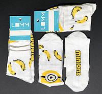 Носки с приколами демисезонные LOMM Minions 0102 Украина 37-39р НМД-0510526