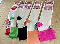 """Жіночі шкарпетки вишиванки з відворотом теплі махра """"Класік"""" Черкаси 23-35 розмір (5 пар) НЖЗ-01014452"""