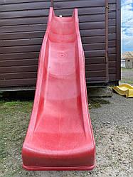 Детская горка пластиковая 3 м (Бельгия) Красная   з Дефектом