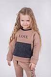 Стильный теплый спортивный костюм ФЛИС для девочки р. 116, фото 2