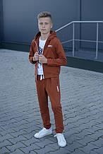 Модний спортивний костюм Каштановий на хлопчика р. 134-152