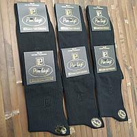 Носки мужские высокие Pier Luigi Турция 39-41р хлопок чёрные двойные пятка и носок НМД-0510810