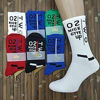 Носки мужские высокие деми UYUT men cotton socks хлопок 39-42р.с надписями ассорти 20007546