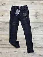 Стрейчеві джинсові джеггінси для дівчаток. 4 роки.