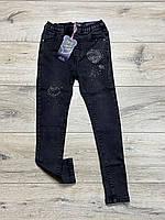 Стрейчевые джинсовые джеггинсы для девочек. 4 года.