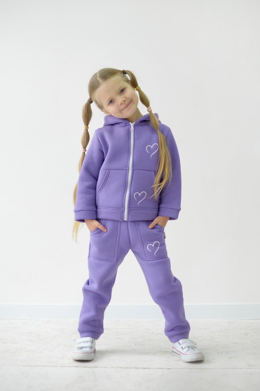 Теплый спортивный костюм ФЛИС для девочки р. 86, 92, 104