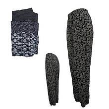 Женские лёгкие летние штаны султанки с карманами Ласточка 401. батал (разные рисунки) ЛЖЛ-3072