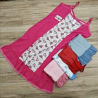 Ночная сорочка женская трикотаж Украина 88-92р на лямках НС-343