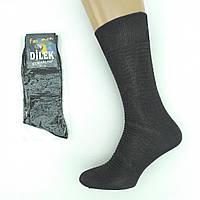 Носки мужские демисезонные высокие DILEK из шелка 43-46р. однотонные, черные , 20023065