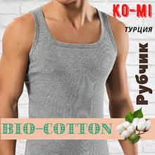 Мужская майка Ko-Mi BioCotton Турция в рубчик серая размер 8-L,20011550