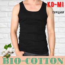 Мужская майка Ko-Mi BioCotton Турция в рубчик черная размер 9-ХL,20011536