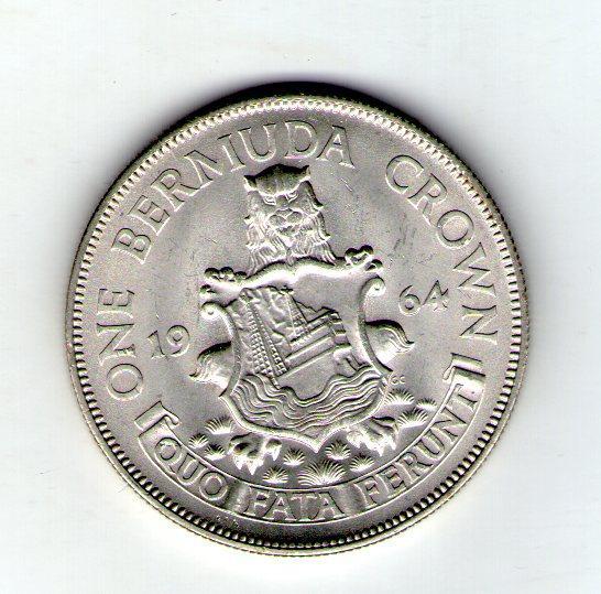 Бермуди Бермудські острови 1 крона 1964 Єлизавета II Срібло №172