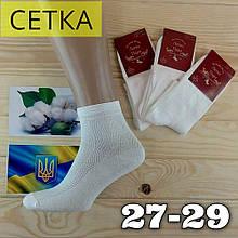 Носки мужские с сеткой Легка Пара 27-29 размер. белые НМЛ-06460