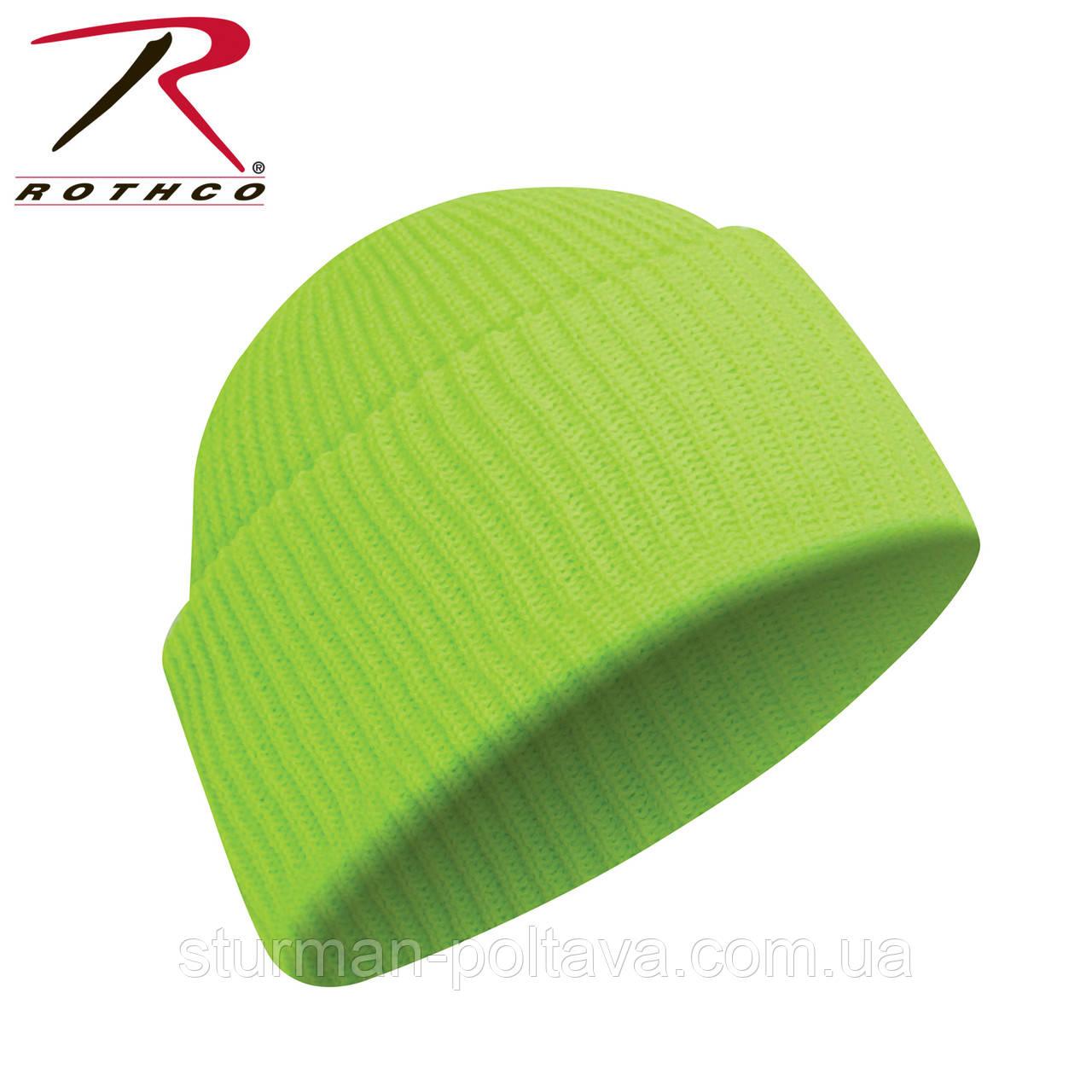 Шапка  мужская акриловая  цвет салатовый   Deluxe Fine Knit  Rotcho  USA