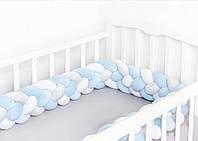 Бортики в детскую кроватку- косичка