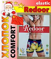 Трусы-боксеры с новогодним рисунком дед мороз мужские Redoor 3327 хлопок ТМБ-1818631