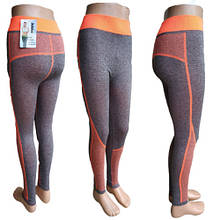 Спортивные фитнес лосины женские Jujube B 829S резинка оранжевая высокоэластичные, 20005931