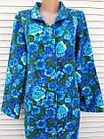 Теплый фланелевый халат 46 размер Синяя поляна, фото 3