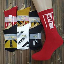 Носки мужские высокие деми UYUT men cotton socks хлопок 39-42р. с рисунком ассорти 20007614