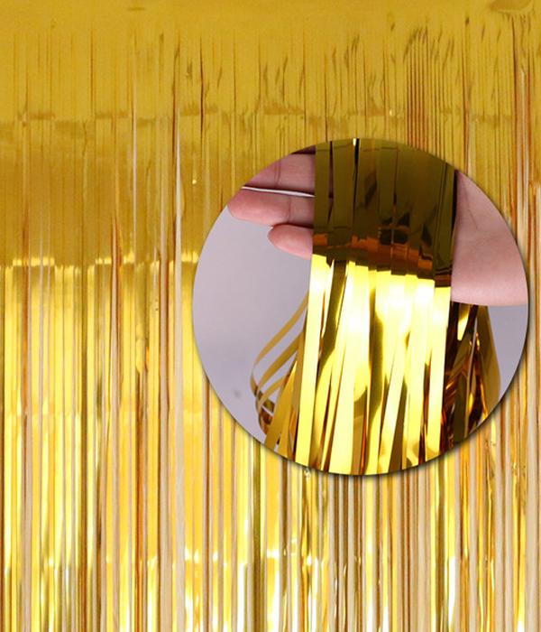Фото-фон - шторка из фольги ЗОЛОТО (1х2 метра)