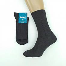 Носки мужские демисезонные Classic, высокие, Capitano, р25, в рубчик, черные, 20021771