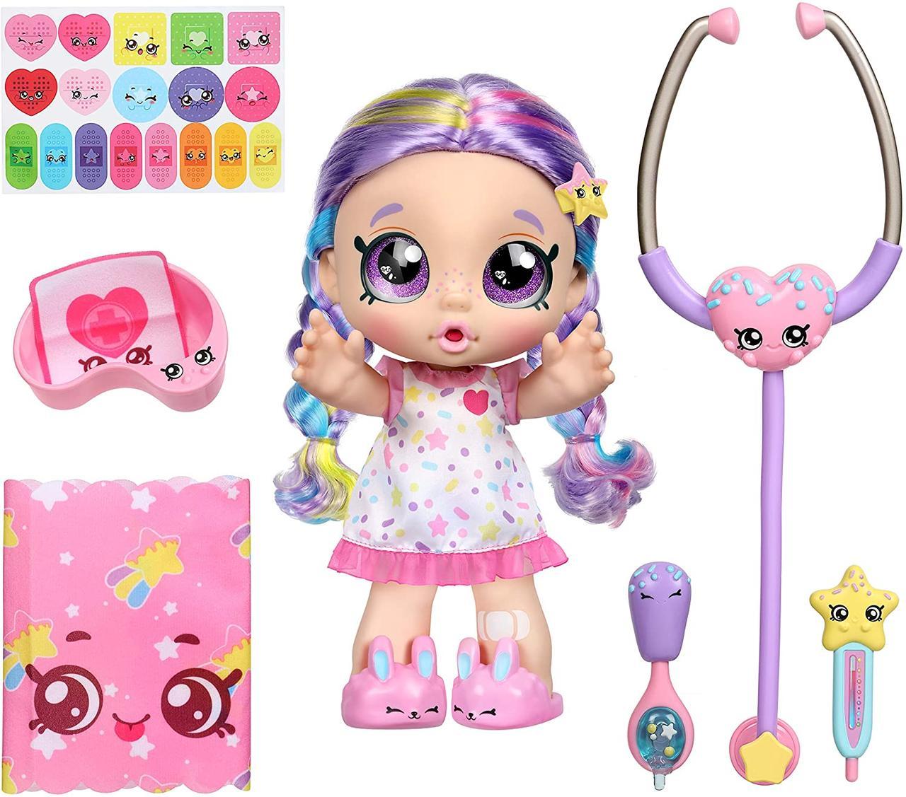 Интерактивная кукла Кинди Кидс Рейнбоу Кейт Kindi Kids Snack Time Friends Shiver and Shake Rainbow Kate