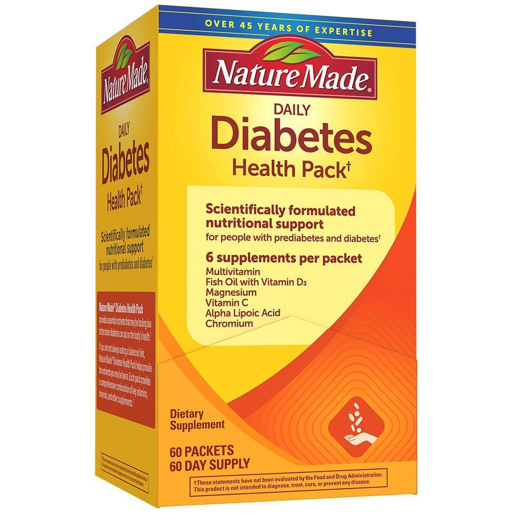Nature Made Diabetes Health Pack для диабетиков витамины, минералы, омега-3, альфа-липоевой, зеленым чаем 30 п