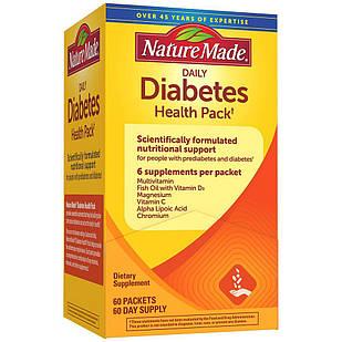 Nature Made Diabetes Health Pack для діабетиків вітаміни, мінерали, омега-3, альфа-ліпоєвої, зеленим чаєм 30 п