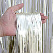 Фото-фон - шторка из фольги СЕРЕБРО (1х2 метра), фото 5