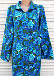 Теплый фланелевый халат 48 размер Синяя поляна, фото 3
