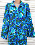 Теплый фланелевый халат 50 размер Синяя поляна, фото 7