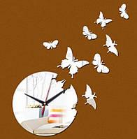 Настенные часы порхающие бабочки