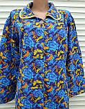 Теплый фланелевый халат 56 размер Бабочки, фото 9