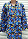 Теплый фланелевый халат 56 размер Бабочки, фото 10