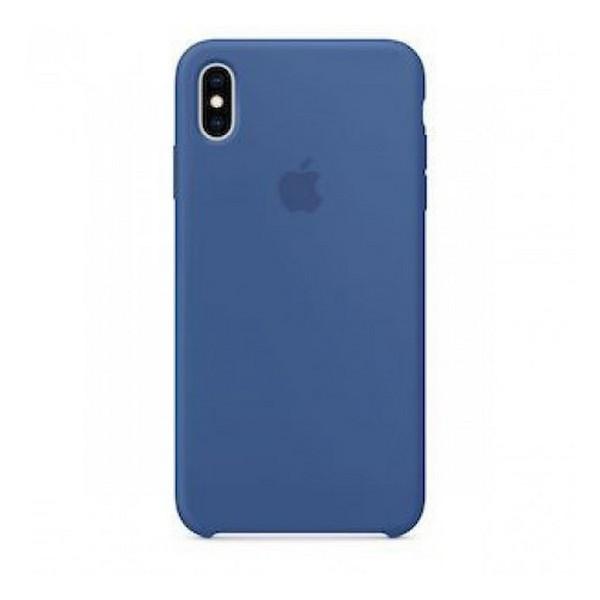 Накладка для iPhone XS Max Silicone Case (Hi-copy) Cobalt Blue