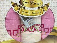 Набор махровых полотенец Gio Ricci Розовый 70х140 1шт, 50х90 2шт 100% Хлопок Турция